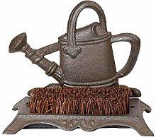 Dibor Antique Brown Cast Iron Doormat Boot Brush