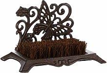 Dibor Cast Iron Boot Brush - Brown Coir Bristle