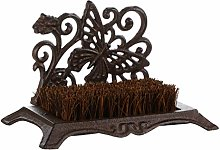 Dibor Cast Iron Boot Brush Vintage Butterfly