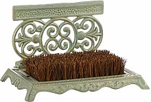 Dibor Cast Iron Door Mat - Outdoor Ornate Welcome