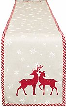 Dibor Christmas Table Runner Cotton Machine