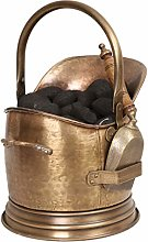 Dibor Coal Bucket Antique Brass Effect Scuttle &