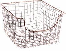 Dibor Copper Magazine Basket Home Storage