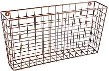 Dibor Copper Magazine Rack Wall Mounted Storage