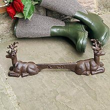 Dibor Free Standing Cast Iron Boot Scraper Stag