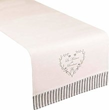 Dibor Grey Striped Edge Heart Print 100% Cotton