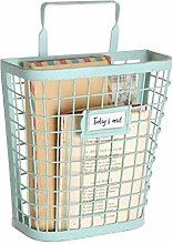 Dibor Magazine Rack Basket Wall Mounted Copper