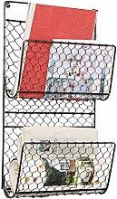 Dibor Magazine Rack Basket Wall Mounted Newspaper