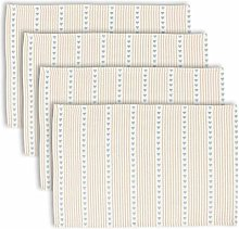 Dibor Placemats Set of 4 - Striped Woven Cotton