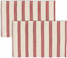 Dibor Set of 2 Placemats Striped Print Washable
