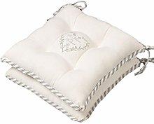 Dibor Set of 2 Seat Pads - Grey Striped Heart 100%