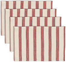 Dibor Set of 4 Placemats Striped Print Washable