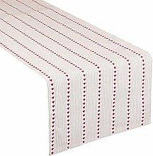 Dibor White Cotton Fabric 140cm Table Runner