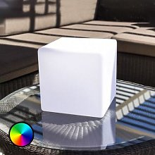 Dice decorative table lamp, app control RGBW 25 cm