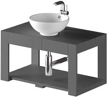 Dicus Solid Pine 800mm Wall Hung Single Vanity