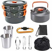 didatecar Camping Cookware Pot Set 2 Person
