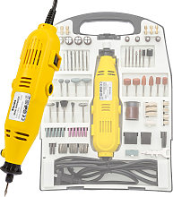 Die grinder kit with carry case 243 PCs - yellow