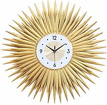 DIEFMJ Golden Sunburst Wall Clock,Sparkling Bling