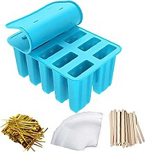 DierCosy Ice Lolly Mold Silicone Ice Cream Tray