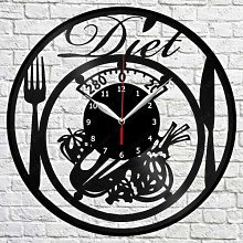 Diet Vinyl Wall Clock LP Record Home Decor