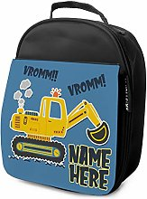 Digger Lunch Bag Boys School Lunchbox Insulated