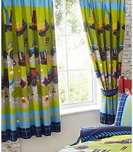 Diggers Fully Lined Curtain Pair 66x72'