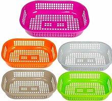 Digi Plast S.N.C. Oval Basket, Multicoloured, One