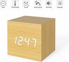 Digital Alarm Clock Wooden Alarm Clock USB/Battery