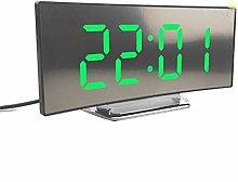 Digital Clock USB Rechargeable Mirror LED Alarm
