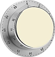 Digital Kitchen Timer Magnetic Alarm Clock, Beige
