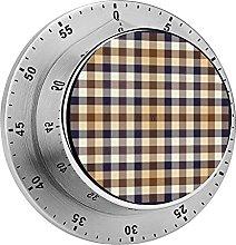 Digital Kitchen Timer Magnetic Alarm Clock, Brown