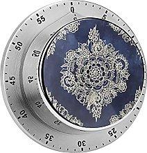 Digital Kitchen Timer Magnetic Alarm Clock, Cream