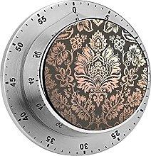 Digital Kitchen Timer Magnetic Alarm Clock, Damask
