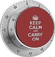 Digital Kitchen Timer Magnetic Alarm Clock, Dark