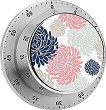 Digital Kitchen Timer Magnetic Alarm Clock, Floral