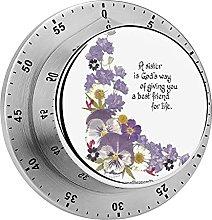 Digital Kitchen Timer Magnetic Alarm Clock, for A