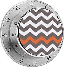 Digital Kitchen Timer Magnetic Alarm Clock, Gray