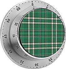 Digital Kitchen Timer Magnetic Alarm Clock, Green