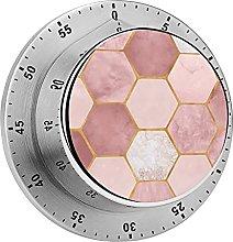 Digital Kitchen Timer Magnetic Alarm Clock, Pink