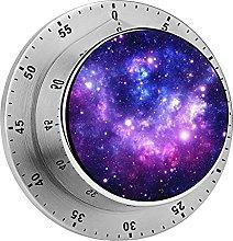 Digital Kitchen Timer Magnetic Alarm Clock, Purple
