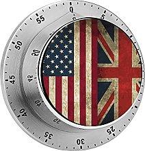 Digital Kitchen Timer Magnetic Alarm Clock, USA UK