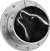Digital Kitchen Timer Magnetic Alarm Clock, Wolf