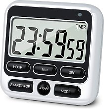 Digital Kitchen Timer with Mute/Loud Alarm Switch