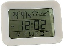 Digital LCD Weather Station Calendar Alarm Clock
