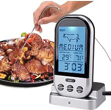 Digital Meat Thermometer Wireless Remote Food