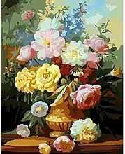 Digital Painting Frameless Pink vase Canvas
