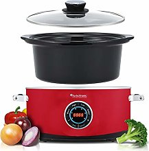 Digital Slow Cooker 6.5 L with Timer, Keep Warm