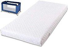 Digital Textile Travel Cot Mattress - 95x65x7.5cm