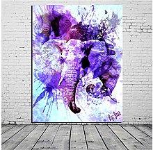 DIHEFA Cheap Wall Art Picture Colorful Elephant