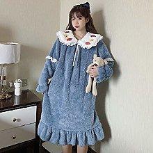 dihui Animal Print Warm Pyjama,Cute and sweet long